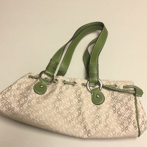 Gold and green small purse